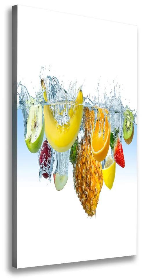 Tablou pe pânză canvas Fructele sub apa