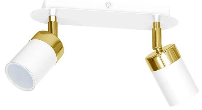 Lustra Plafon JOKER WHITE/GOLD Milagro Modern, GU10, Alb/Auriu, MLP6129, Polonia