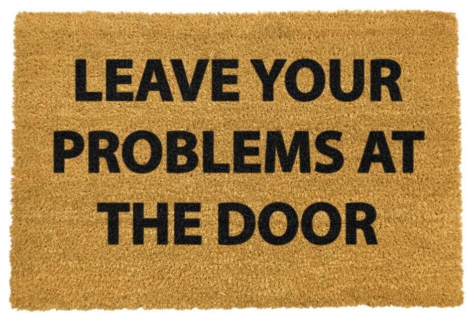 Covoraș intrare din fibre de cocos Artsy Doormats No Problems, 40 x 60 cm