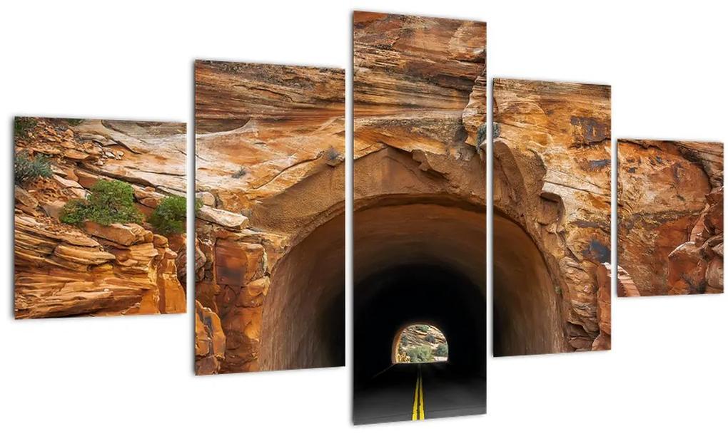 Tablou - tunel în stâncă (125x70 cm), în 40 de alte dimensiuni noi