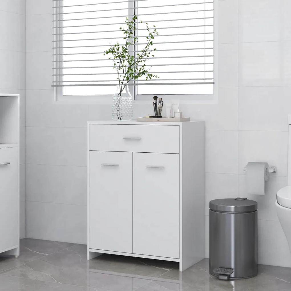 805024 vidaXL Dulap de baie, alb, 60 x 33 x 80 cm, PAL