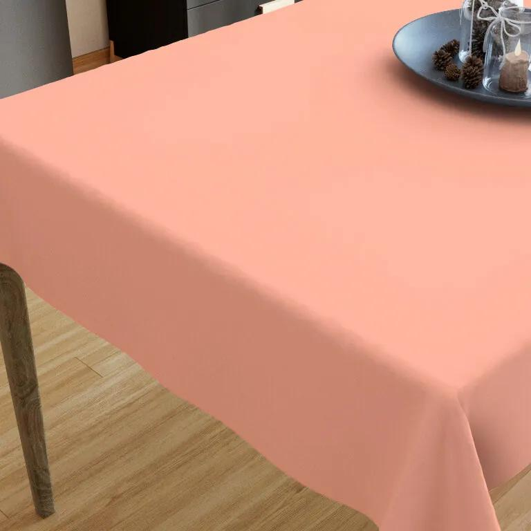 Goldea față de masă din bumbac - culoare somon 35 x 45 cm