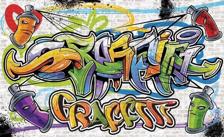 Graffiti Street Art Fototapet, (152.5 x 104 cm)