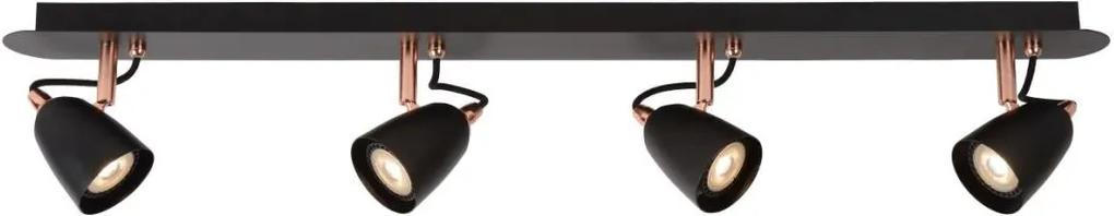 Lucide 26956/20/17 - Lampa spot LED RIDE-LED 4xGU10/5W/230V cupru