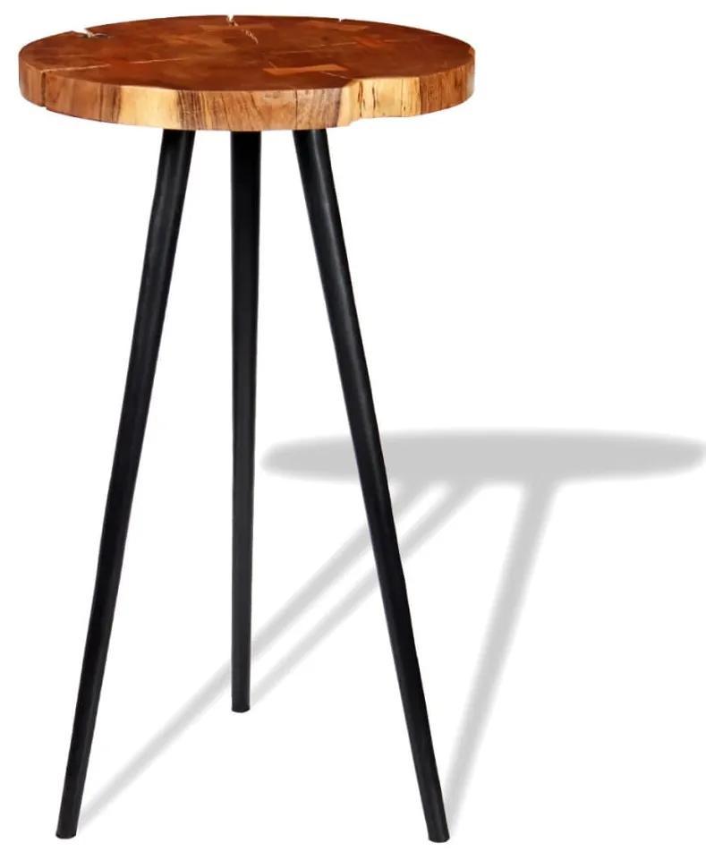 243958 vidaXL Masă bar model bușteni, lemn masiv de acacia (55-60) x 110 cm