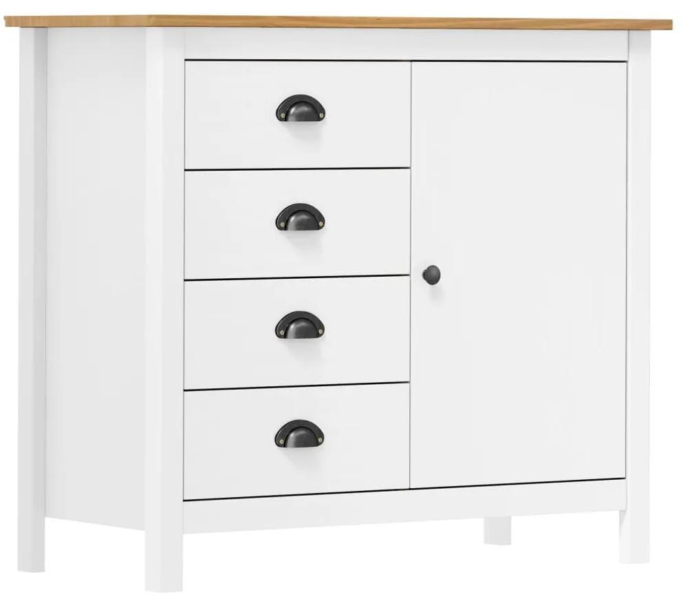 288938 vidaXL Servantă Hill Range, alb, 91 x 40 x 80 cm, lemn masiv de pin