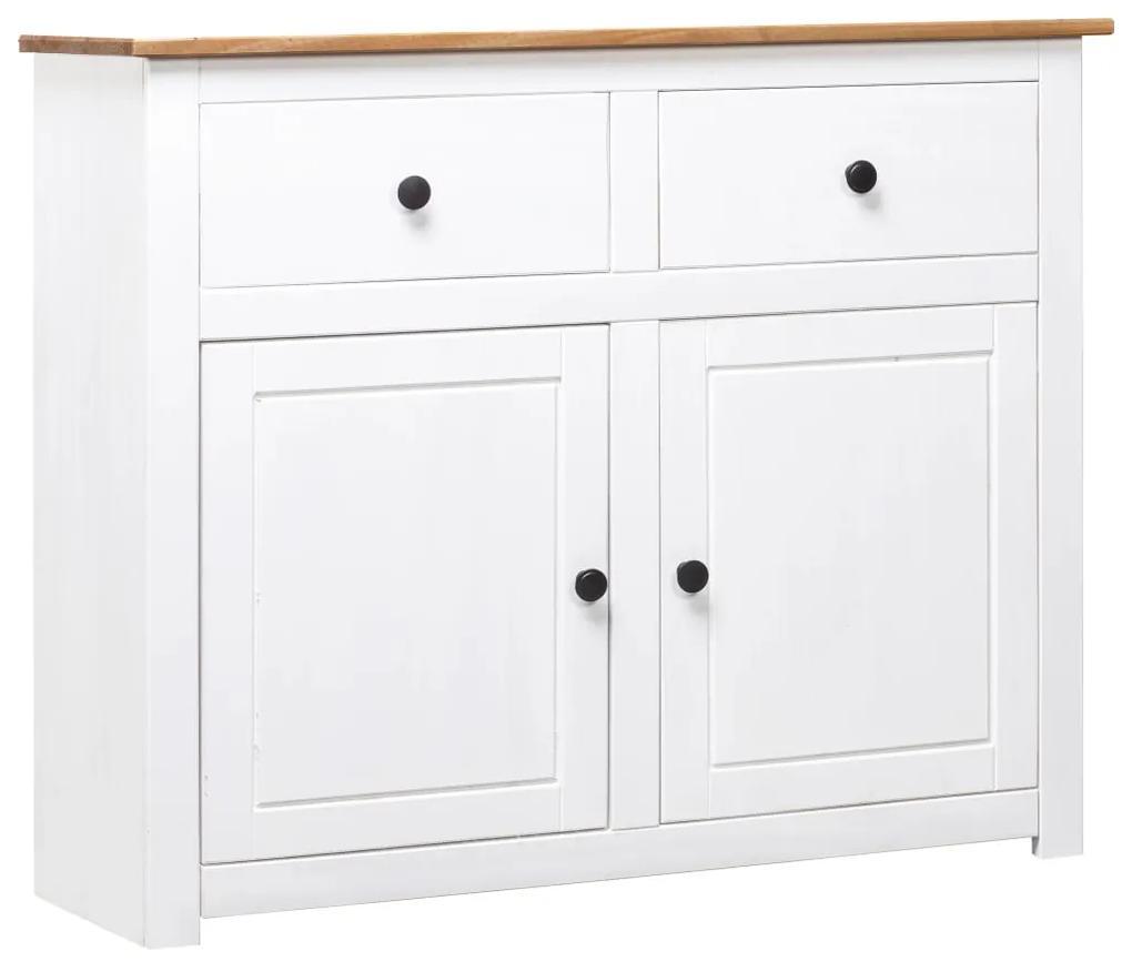 282699 vidaXL Servantă, alb, 93x40x80 cm, lemn masiv pin, gama Panama