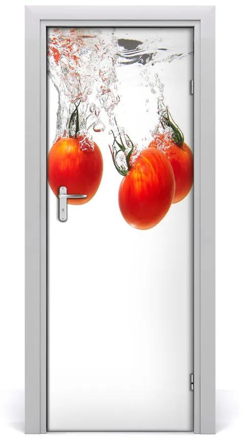 Autocolante pentru usi Tomatele sub apă