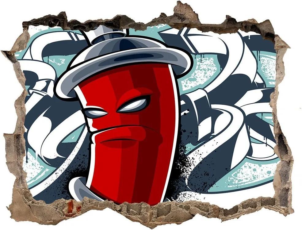 Autocolant autoadeziv gaură Graffiti