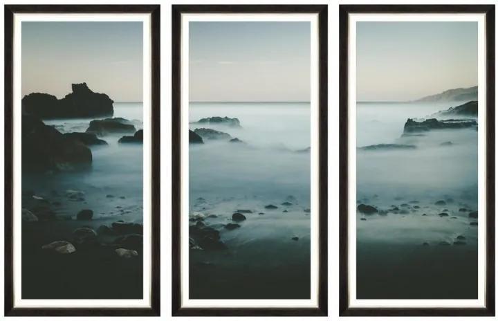 Tablou 3 piese Framed Art Beach At Dawn