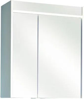 Dulap cu oglindă pelipal Treviso I, 2 uși, iluminare LED, 70x60 cm, alb, IP 33