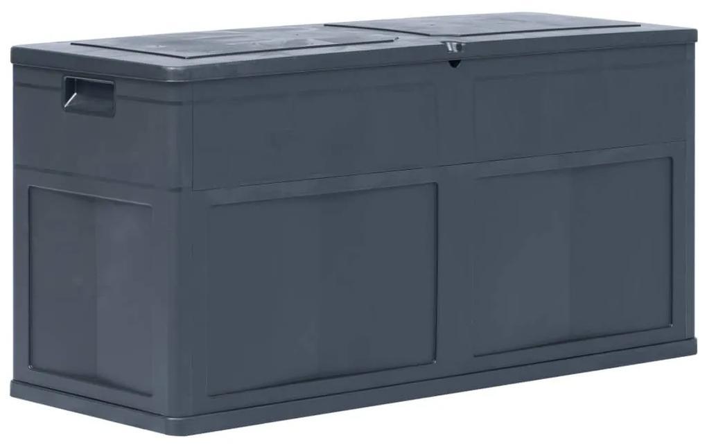 45688 vidaXL Ladă de depozitare de grădină, negru, 320 L