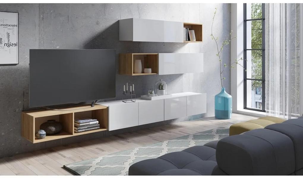 Expedo Mobilă sufragerie BRINICA NR 25, alb/alb luciu