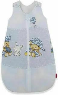 KidsDecor - Sac de dormit fara maneci Hai la joaca 70 cm din Bumbac, 70x30 cm, 3-9 luni, Tog 1.0, Albastru