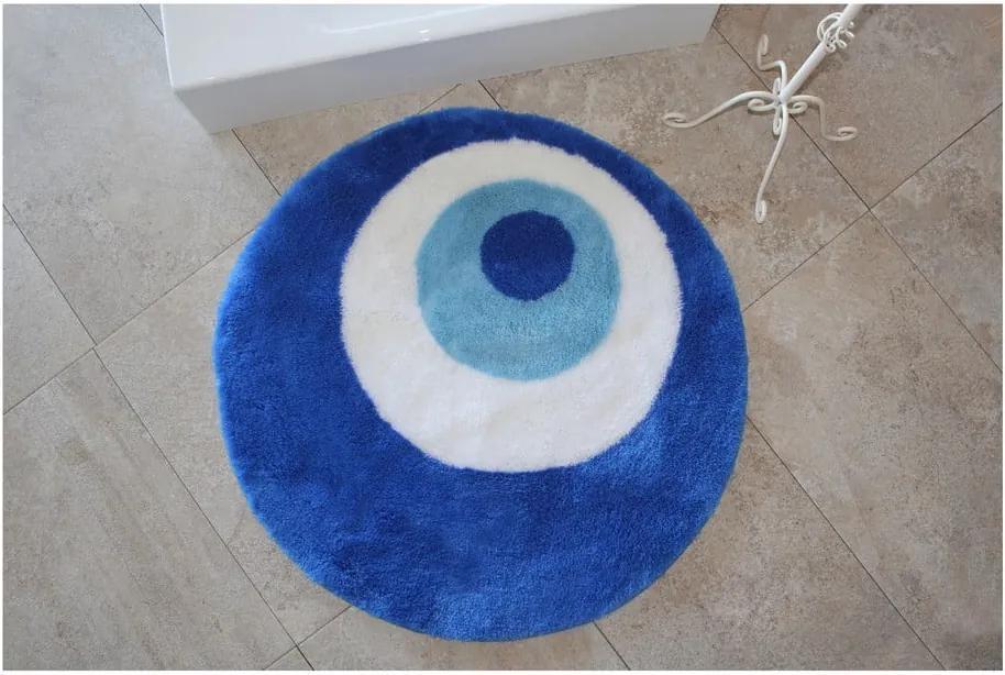 Covor de baie rotund Eye, albastru