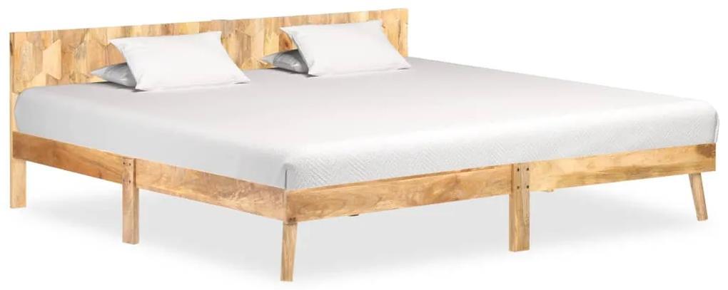 288444 vidaXL Cadru de pat, 200 x 200 cm, lemn masiv de mango