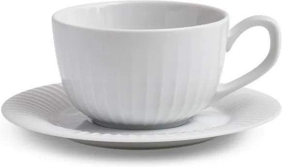 Ceașcă și farfurioară Kähler Design Hammershoi, 250 ml, alb