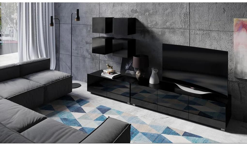 Expedo Mobilă sufragerie BRINICA NR 18, negru/negru luciu
