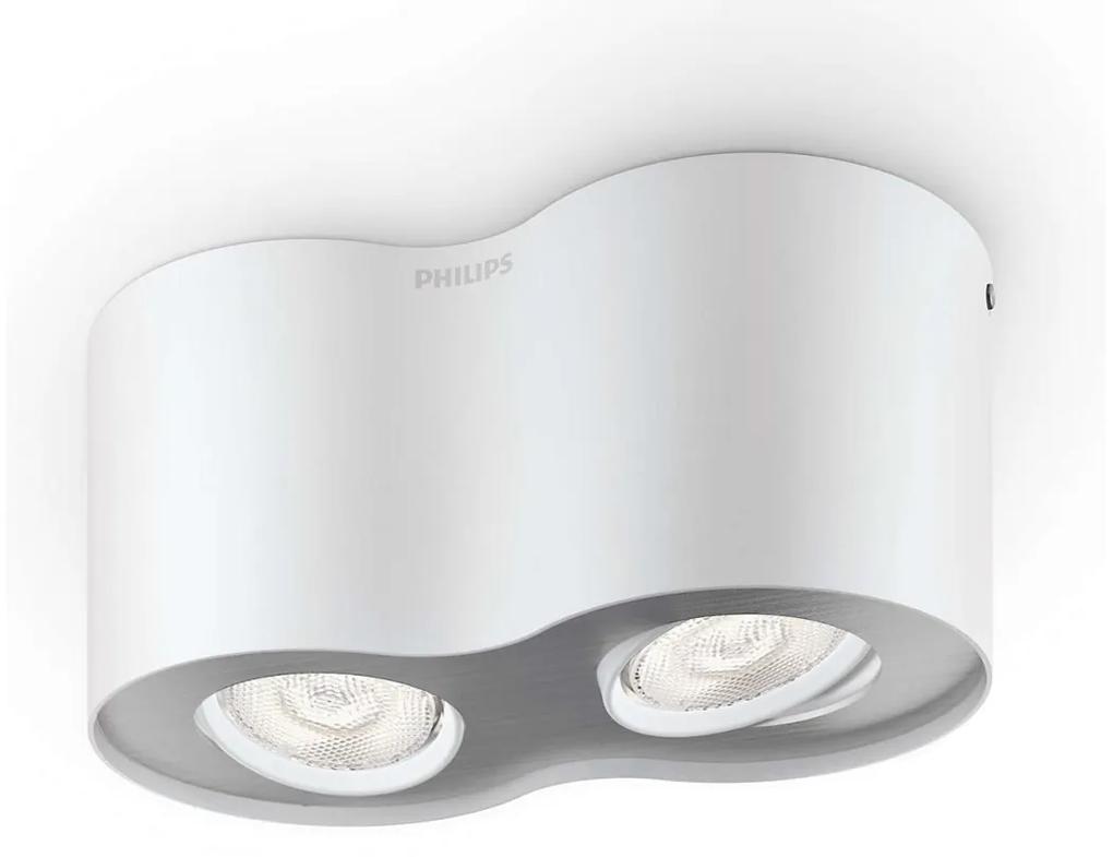Philips 53302/31/16 - LED Lampa spot PHASE 2xLED/4,5W/230V