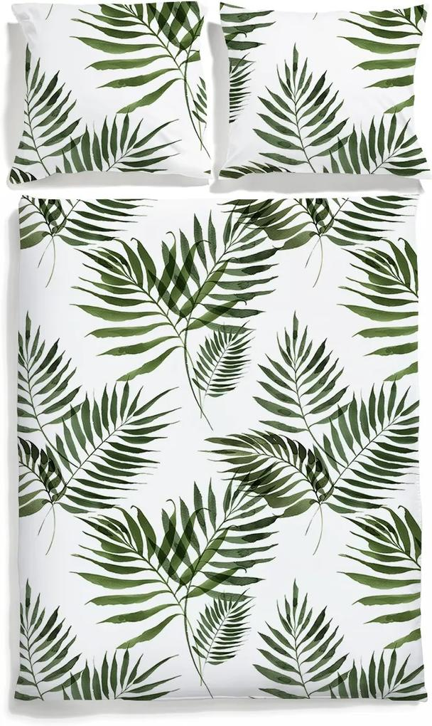 Lenjerie de pat din bumbac satinat Premium Palm Trees 200x200+2x 50/60 cm