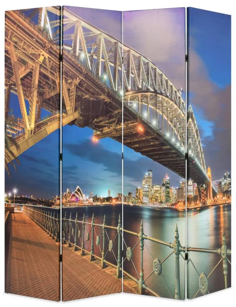 245866 vidaXL Paravan de cameră pliabil, 160 x 170 cm, Sydney Harbour Bridge
