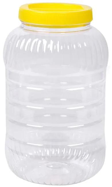 Recipient din plastic transparent, 11x27 cm 5L
