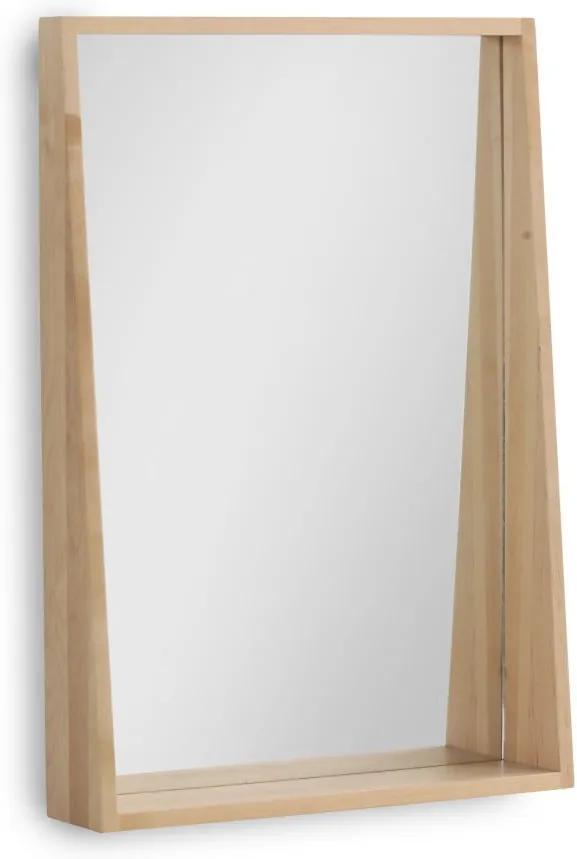 Oglindă de perete cu ramă din lemn de mesteacăn Geese Pure, 65 x 45 cm