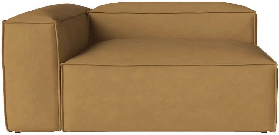 Canapea modulara bej din piele 150 cm Cosima Left Bolia