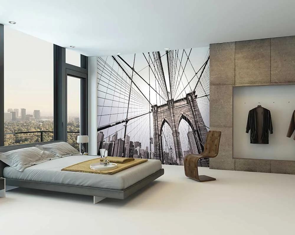 Fototapet - Brooklyn Bridge Tapet non-țesute 300x240 cm Fototapete pe perete Lucios