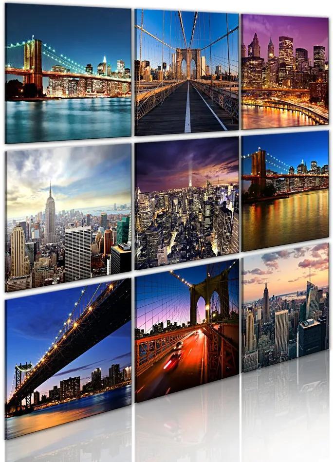 Tablou - New York in nine scenes 60x60
