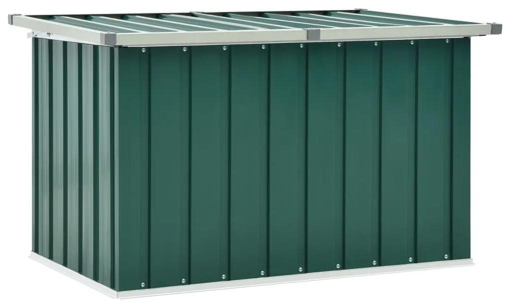 46257 vidaXL Ladă de depozitare pentru grădină, verde, 109 x 67 x 65 cm