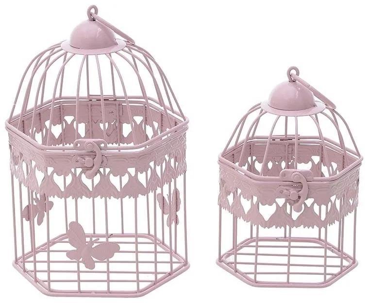 Set 2 colivii Pink Butterfly din fier