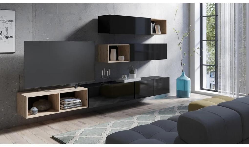 Expedo Mobilă sufragerie BRINICA NR 25, negru/negru luciu