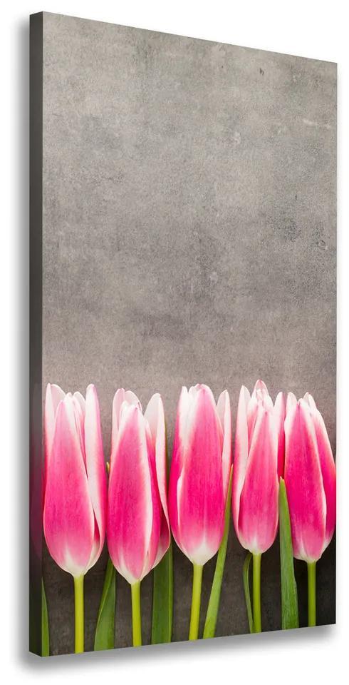 Tablou pe pânză canvas Lalele roz