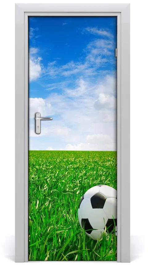 Autocolante pentru usi Autoadeziv UȘĂ fotbal pe pajiște