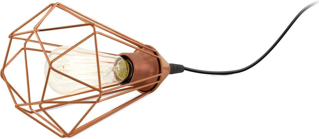 Veioză/Lampă de masă Eglo TARBES 60W, Ø175mm, cupru