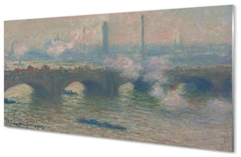 Tablouri pe sticlă Arta peisaj pictat