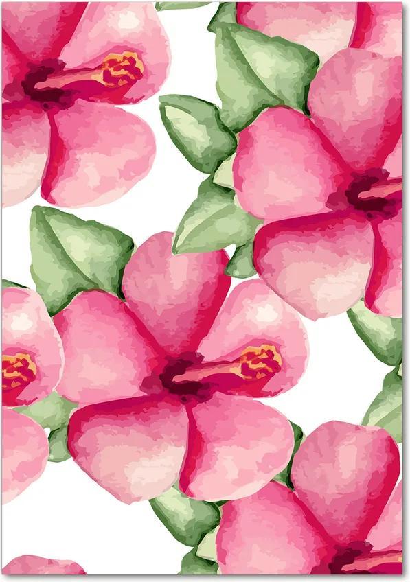 Tablou pe acril Flori tropicale