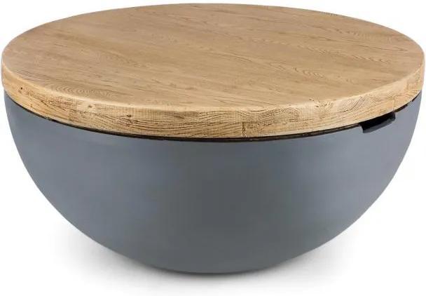 Blumfeldt BLOCKHOUSE LOUNGE, masă de beton pentru grădină, 80x40 cm (ØXV), rotundă
