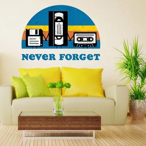 Sticker pentru perete - Never forget 120x85 cm