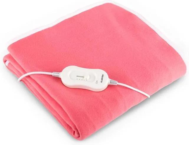 Klarstein Dreams iarnă patura electrica 60W 150x80cm pentru mașină de spălat , roz