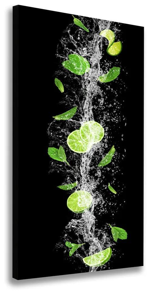 Tablou canvas Lămâi verzi
