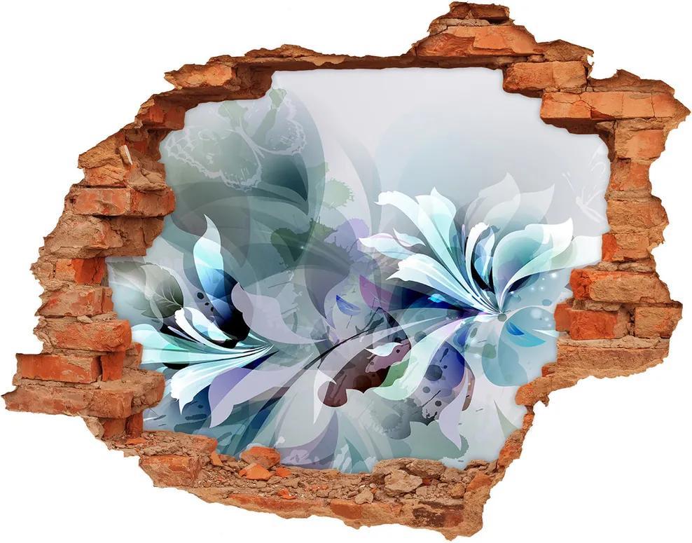 Autocolant 3D gaura cu priveliște Flori abstracte