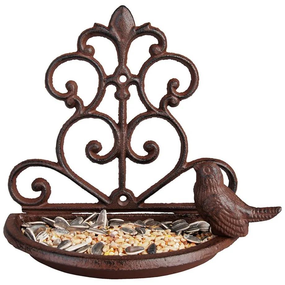 Hrănitor fontă pentru păsări Esschert Design, lățime 18,3 cm