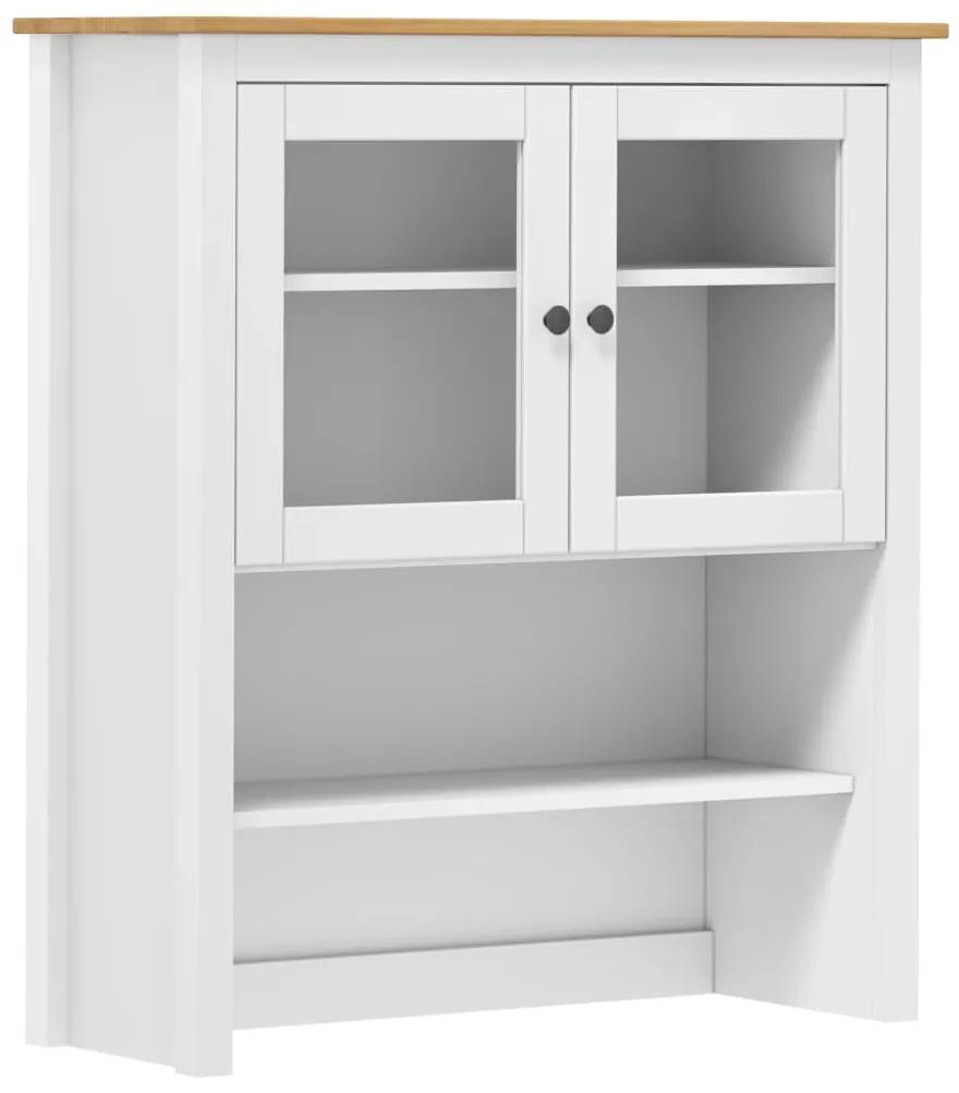 288946 vidaXL Servantă Hill Range, alb, 90 x 33 x 100 cm, lemn masiv de pin