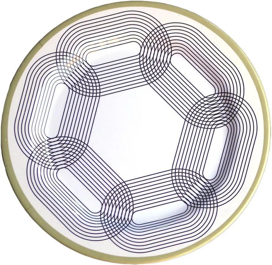 Set 6 farfurii din melamină Sunvibes Maillon Beige, ⌀ 25 cm