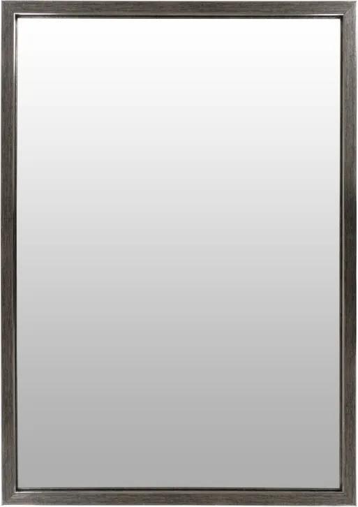 Oglinda dreptunghiulara cu rama din polistiren gri argintie/neagra Cliff, 68cm (L) x 48cm (L) x 1.6cm (H)