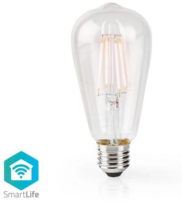 Nedis WIFILF10WTST64 − LED Dimmabil inteligent bec VINTAGE ST64 E27/5W/230V