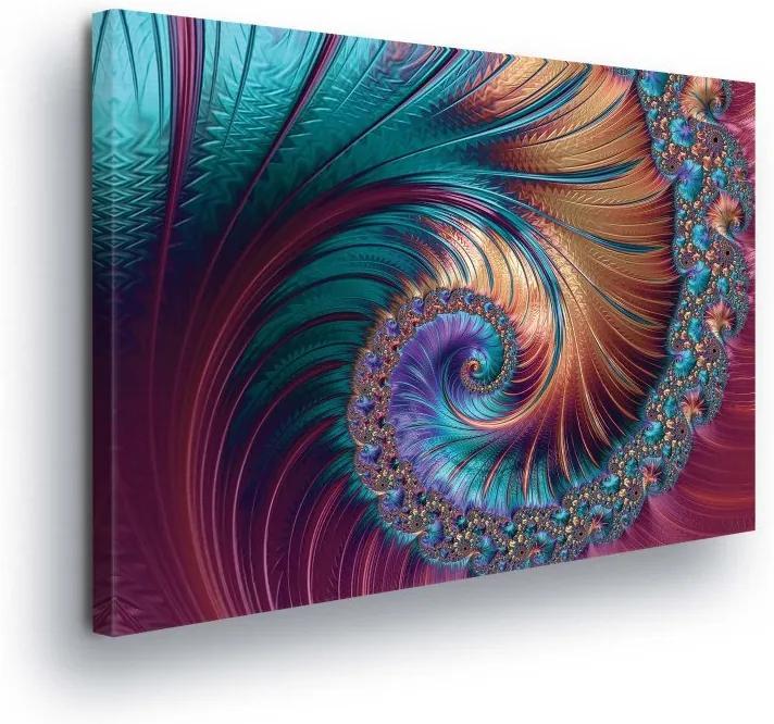 GLIX Tablou - Abstract Swirl in Color Tones 100x75 cm