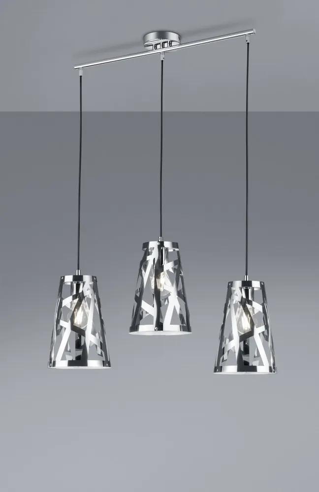 Trio CARLITO R30503006 Pendule cu mai multe brate crom excl. 3 x E27 ↔ 62cm/ ↕ 150cm